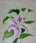 tableau fleurs lys rose : Petit Lys Rose