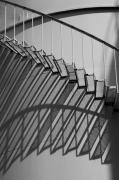 photo architecture escalier metal ombre gerard vouillon : Ombre portée