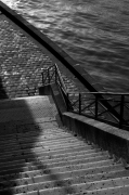 photo paysages bord de seine paris marches gerard vouillon : Descendez l'escalier