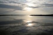 photo paysages mer reflet couche de soleil gerard vouillon : Miroir d'eau