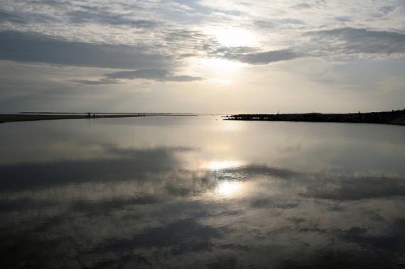 PHOTO mer reflet couché de soleil gerard vouillon Paysages  - Miroir d'eau