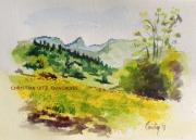 dessin paysages hautesavoie montagne paysage point midi : Pointe du Midi