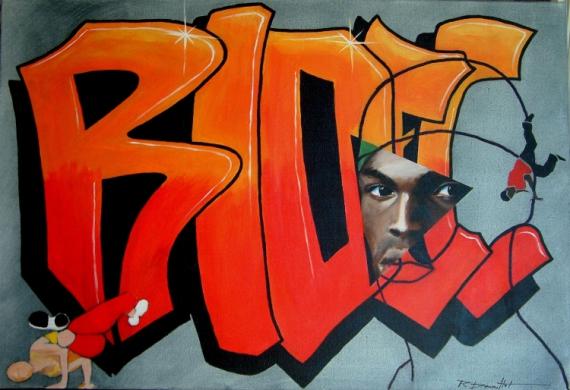TABLEAU PEINTURE  - hip hop