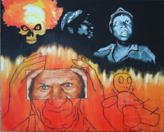 TABLEAU PEINTURE  - voodoo child