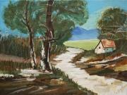 tableau paysages guillemin tricot chantal cabane : Ma petite cabane
