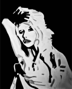 tableau personnages bardot gainsbourg guillemin tricot : BB