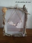 deco design memo bois flotte coquillage poisson : Mémo poissons bois flotté