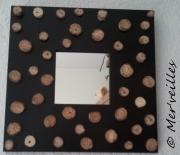 deco design autres miroir bois flottes : Miroir en bois flottés