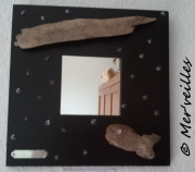 deco design autres miroir bois flottes : Miroir bois flotté