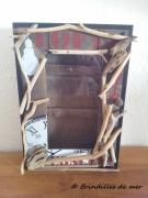 deco design autres boite ,a clefs bois flotte vintage brindilles de mer : Boite à clefs bois flotté vintage