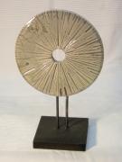 ceramique verre abstrait raku roue ceramique : Roue_Rayons-2