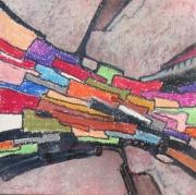 tableau abstrait structure vitrail : Structure_VI