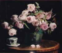 Roses anglaises en bouquet