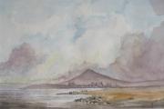 tableau paysages paysage montagne vallee ecosse : Vallay Strand, North Uist, d'après une oeuvre de D. Bellamy