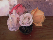 tableau fleurs roses bouquet bienvenue fleurs : Petit bouquet de bienvenue