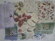tableau fleurs tissus anglais papiers peints angla : British paints, fabrics and wallpapers