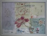 tableau fleurs tissus anglais papiers peints angla : British paints, fabrics and wallpapers (étude)