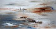 tableau abstrait paysage evasion littoral abstrait : Mâts