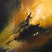tableau abstrait lumiere abstractart mouvement noir : Elévation
