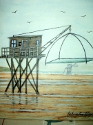 tableau paysages tableaufiguratif marinepecherie contemporain acrylique : Tableau pècherie n°14 St-Brévin
