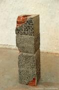 """sculpture architecture architecture ecriture brique ciment : """"A la surface"""""""