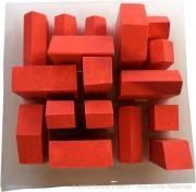 """sculpture architecture architecture immeuble ville platre : """"17 maisons rouges"""""""
