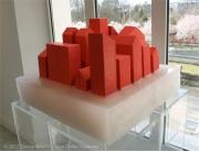 """sculpture architecture architecture maison ville platre : """"17 maisons rouges"""""""