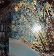 tableau abstrait tableau ,a l hui ouvre abstrait tableau abstrait peinture abstraite : Plumes du paon étrange