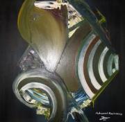 tableau abstrait tableau abstrait peinture acrilyque oeuvre abstrait abstrait : affrontement
