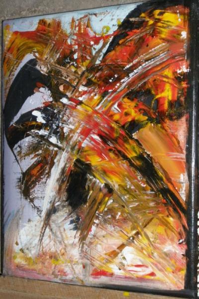 TABLEAU PEINTURE tableau abstrait peinture à l'hu oeuvre abstrait abstrait Abstrait Peinture a l'huile  - contradictions