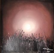 tableau abstrait tableau abstrait abstrait oeuvre ,a l huil coucher du soleil : coucher du soleil autrement