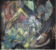 tableau abstrait tableau ,a l hui : charme de l'orien