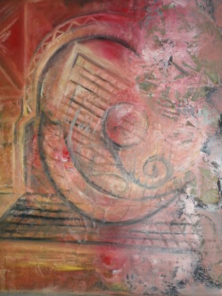 TABLEAU PEINTURE tableau à l'hui Abstrait Peinture a l'huile  - romantisme