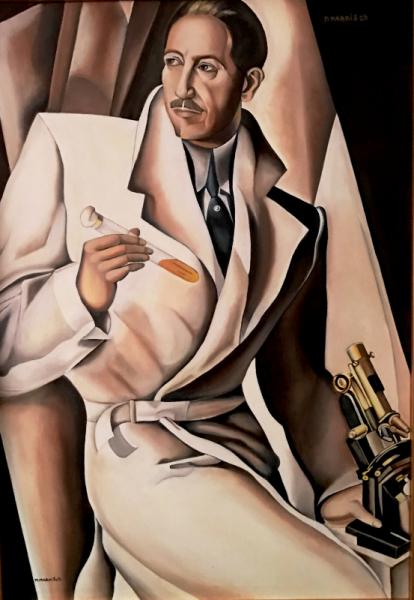 TABLEAU PEINTURE homme blanc 1930 Lempicka Personnages Peinture a l'huile  - Docteur Boucard