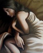 tableau nus femme sommeil nu nuit : Dormeuse