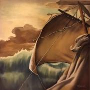 tableau marine tempete voile bateau mer : Tourments