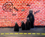 tableau animaux ours oursons famille : Les Temps Modernes