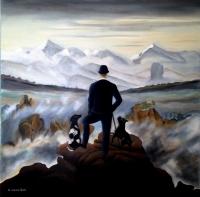 au dessus des nuages ; Mr S et ses chiens.