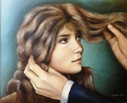 tableau personnages femme cheveux amour regard : Regard