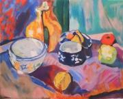 tableau nature morte matisse nature morte poterie fruits : Nature morte d'après Matisse