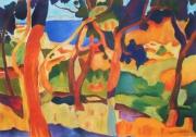 tableau paysages estaque fauve rouge arbres : l'Estaque d'après Derain