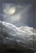 tableau marine orage mer vagues tsunami : L'orage