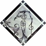 tableau femme musique deco nue : Bénédicte