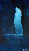 tableau marine nuit alcove grotte mer : le trou du souffleur