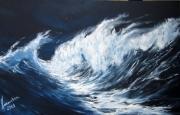 tableau marine vague mer ocean surf : Force 8