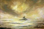 tableau paysages mont saint michel : L or