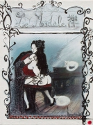 tableau nus geisha femme paris chat : La Geisha de Paris