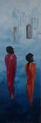 tableau personnages femmes orient mystere saris : Sérénité