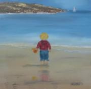 tableau enfant plage sable jeux : jeux de plage