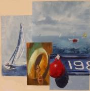 tableau marine ancre mouettes mer bretagne : cartes postales 3